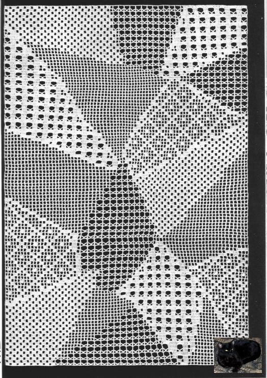 Филейное вязание в стиле пэчворка 445