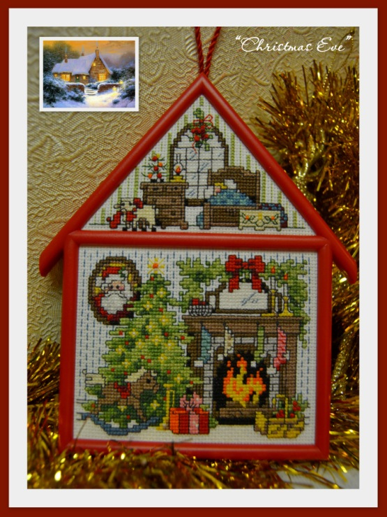Christmas cottage вышивка
