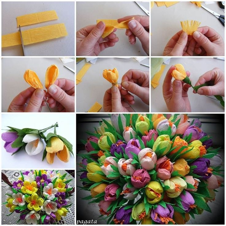 Как делать цветы с конфетами из бумаги