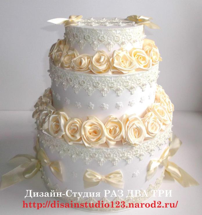 Украшение свадебного торта своими руками: идеи и фото 29