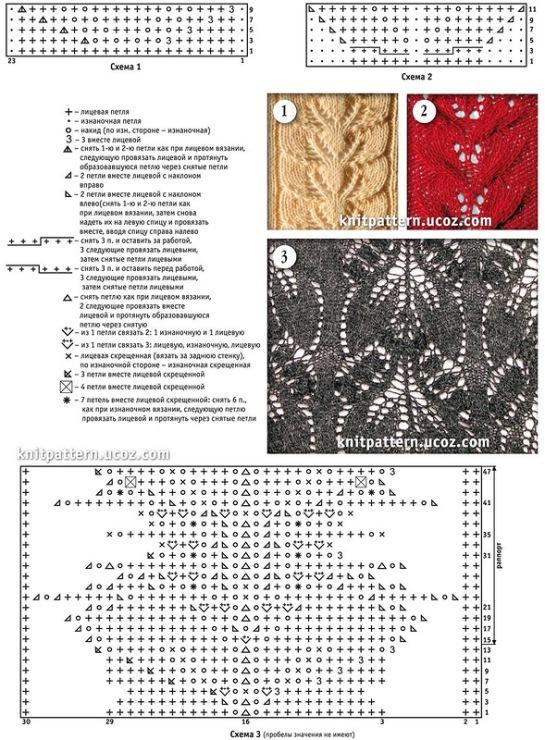 схемы для вязания спицами из шерсти