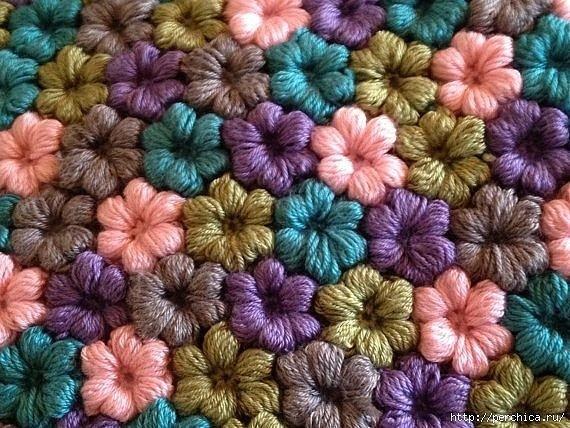 Цветы из пышных столбиков