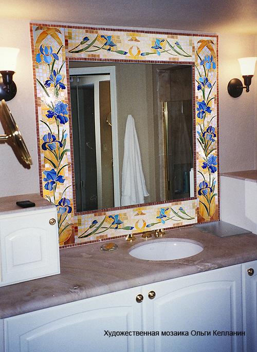 Зеркало в ванную своими руками