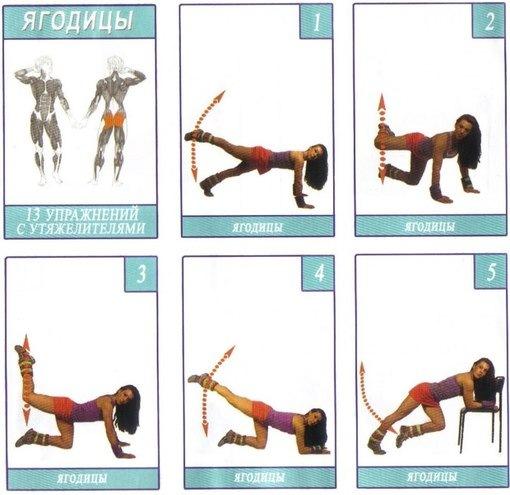 Упражнения для ног и ягодицах в домашних условиях в картинках