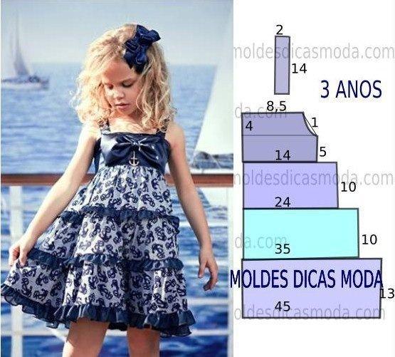 Шить платья для девочек