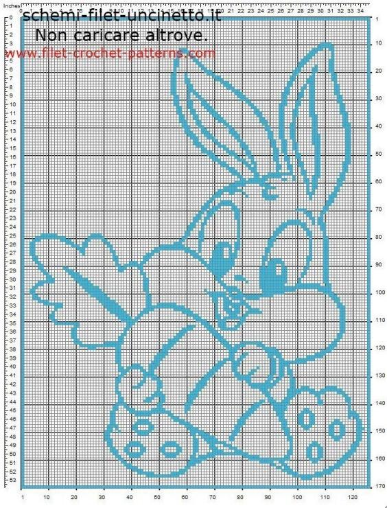 филейное вязание детские рисунки