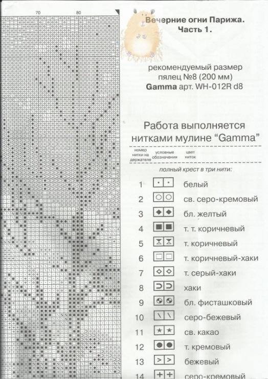 Схема для вышивки вечерние огни 101