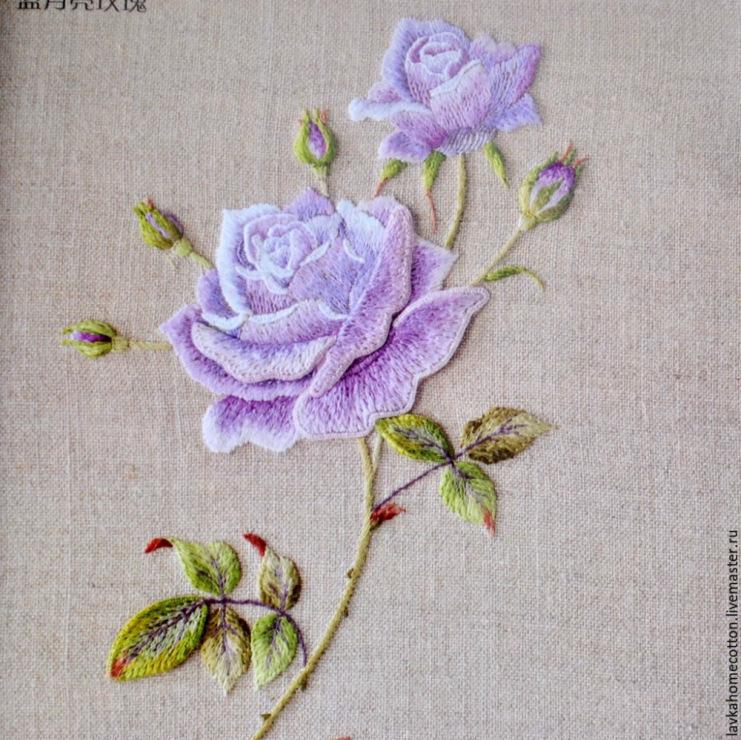 Роза вышивка на машинке