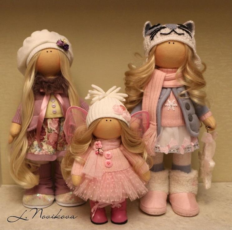 Интерьерные куклы  мастер класс видео