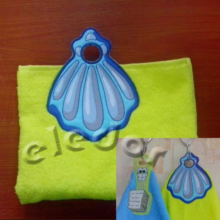 Вышивка петелек на полотенце