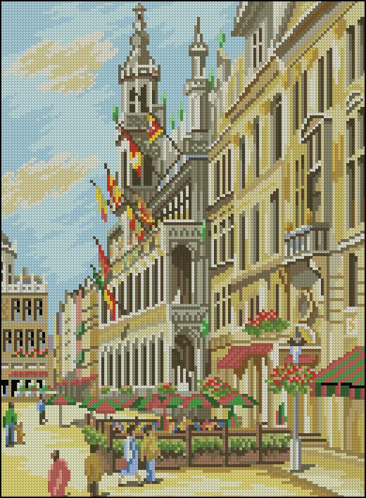 Вышивка крестом наборы города мира 17