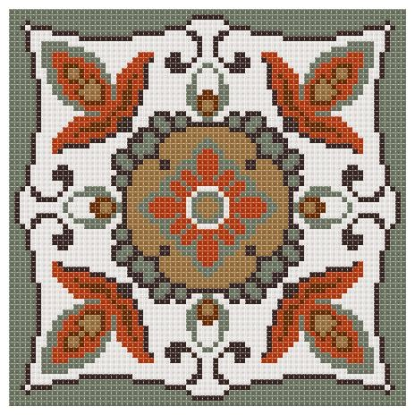 Вышивка крестом подушечки