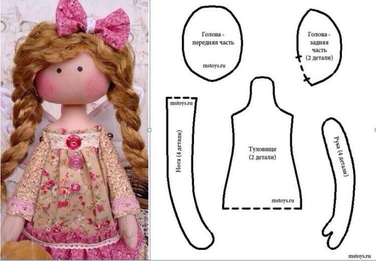 Сшить текстильную куклу выкройки
