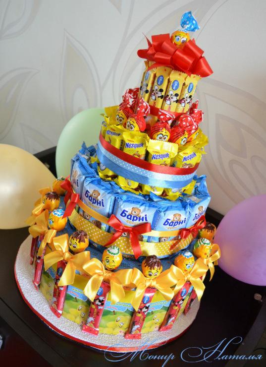 Сделать торт из сладостей своими руками 27
