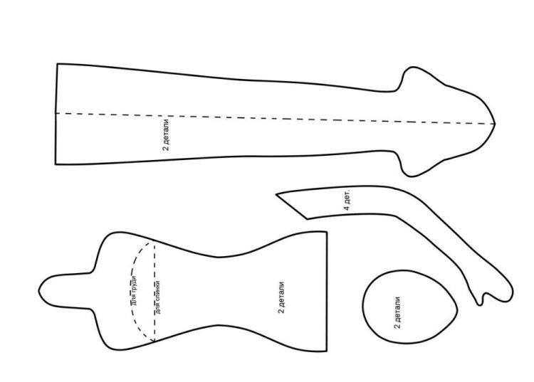 Выкройки кукол балерин из ткани своими руками