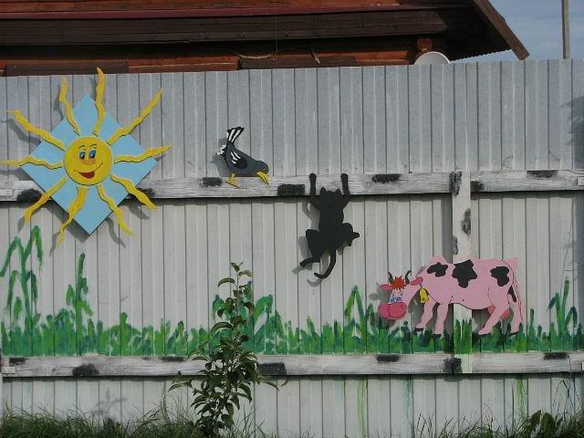 Как на даче раскрасить забор на даче