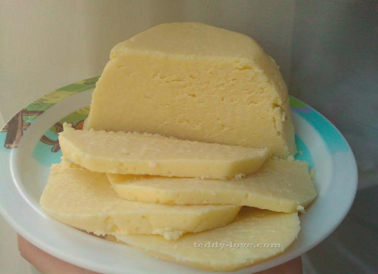 Домашний сыр из творога простой