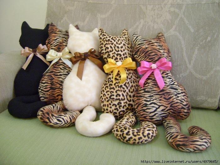 Сшить подушку для кошки