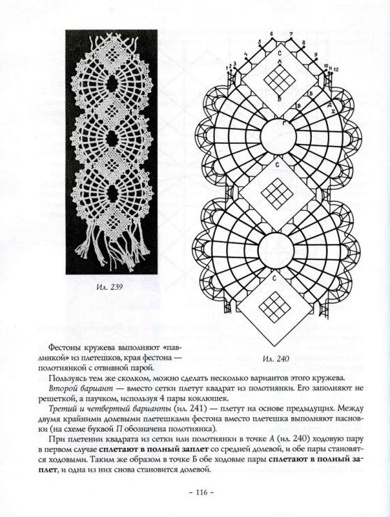 Схемы вязания вологодского кружева 60