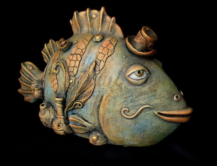 Рыбы из глины