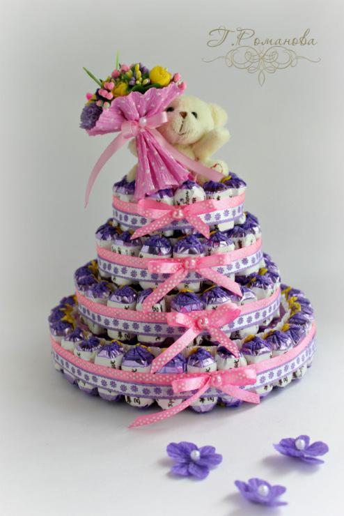Торт из конфет своими руками для девочек