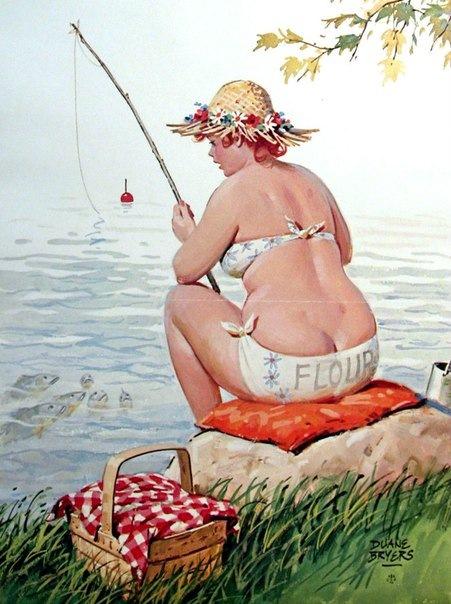 художественное фото толстушки