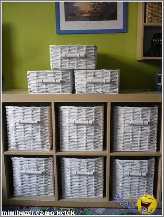 Плетение из газет прямоугольные