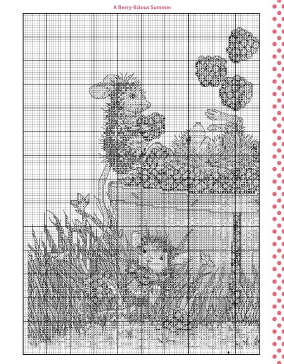 House-mouse designs вышивка крестом