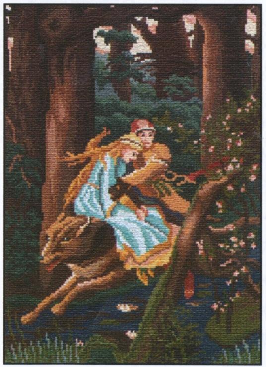 Вышивка иван царевич и серый волк 9