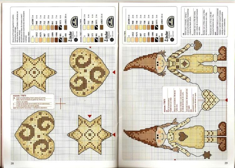 Вышивка новогодних шаров схемы 48