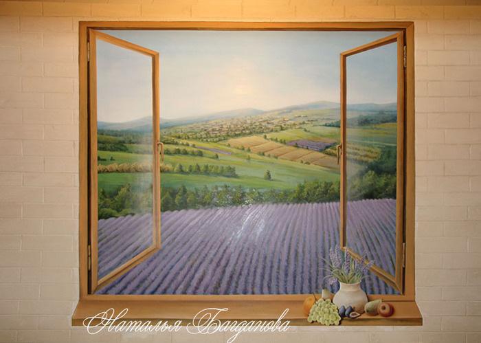 Картина окно с подсветкой