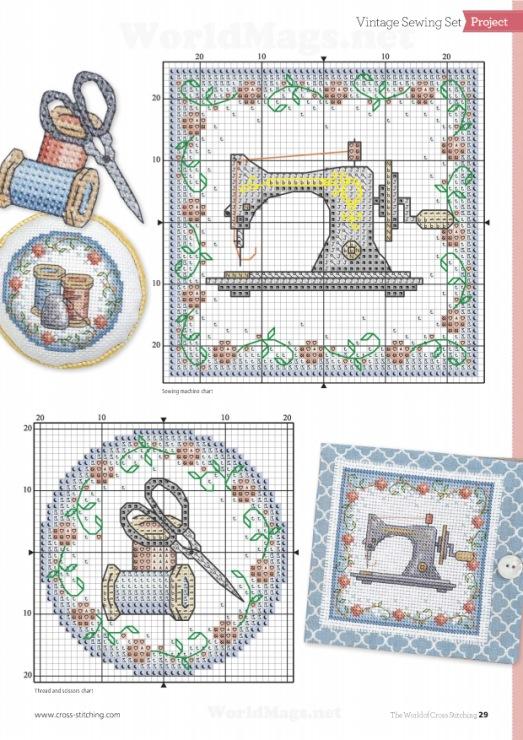Схемы вышивок швейных принадлежностей