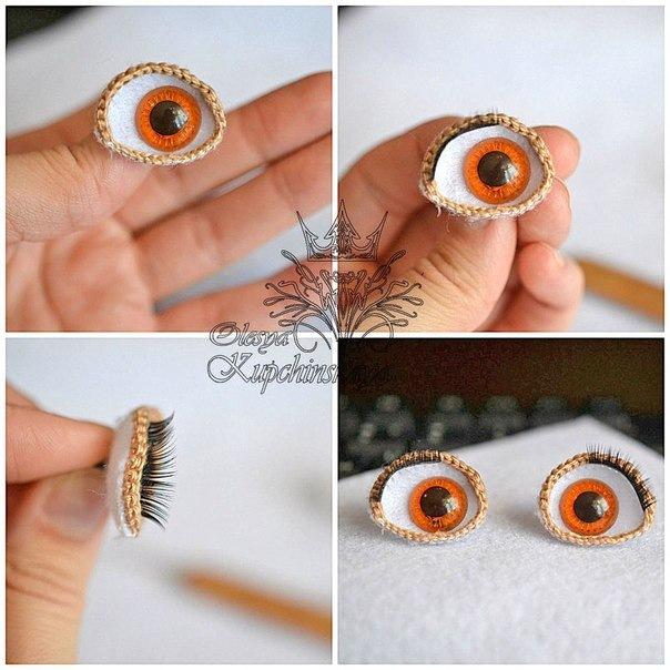 Как делать глаза куклам своими руками